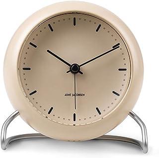 [アルネヤコブセン]ARNE JACOBSEN 時計 置き時計 テーブルクロック 北欧 シティーホール CITYHALL LED灯 アラーム 12cm 43693[正規輸入品]
