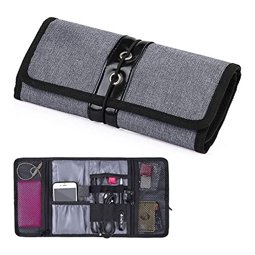 Bolsa de cable plegable portátil bolsa de carrete bolsa pequeña organizador, bolsa...
