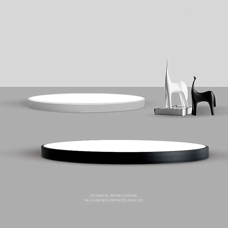 LED-Deckenleuchte ultradünne Runde einfach \u0026 Modern \u0026 Warm für Wohnzimmer Schlafzimmer Studie Küche Restaurant Balkon Korridor Gangdurchmesser 40-22W-3Farbe Licht