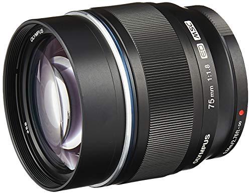 Olympus M.Zuiko Digital ED 75 mm F1.8 Lente para cámaras Micro Cuatro Tercios (Negro) (V311040BU000)