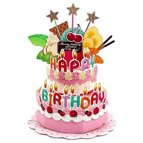 バースデーカード バースデーケーキポップアップ ふるーつみっくす HC-105097 APJ 飛び出す誕生日カード Birthday Card グリーティングカード お誕生お祝い 立体カード メール便可 (ZR)