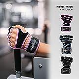SINOVATI Fitnesshandschuhe Atmungsaktive, rutschfeste Trainingshandschuhe   Sporthandschuhe zum Gewichtheben mit Handgelenkbandagen   Kraftsport Herren und Damen - 5