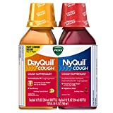 Vicks DayQuil and NyQuil Cough, Cough Relief and Suppressant, Day and Night Relief, Tropical Blend Day Flavor and Nighttime Cherry Flavor, 12 FL Day and Night Pack