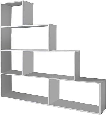 Habitdesign 002255BO - Estantería decorativa, acabado color blanco brillo, medidas 145 x 145 x 29 cm