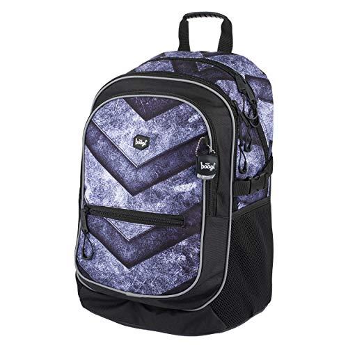 Baagl Schulrucksack für Jungen - Schulranzen für Kinder mit ergonomisch geformter Rücken, Brustgurt und reflektierende Elemente (Gate)