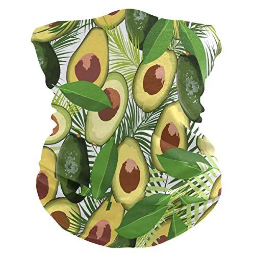 asdew987 Diadema tropical de hojas de palma de aguacate y fruta, máscara facial para cuello, bufanda mágica, pasamontañas para mujeres, hombres, niños y niñas