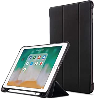 RAG&SAK iPad Case with Pen Holder, Shock Proof TPU for iPad Air/Air2/iPad 9.7,2017&2018 Universal- Black