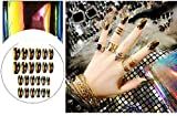 TININNA Lote de 24 Kit de Uñas Postizas Gel Nail Art Shiny Coffin Long Fake Nail Ballet para Mujer y Niña #LG01