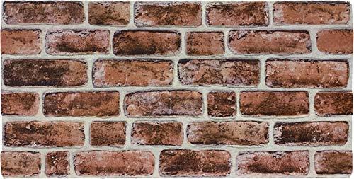 Steinoptik Wandverkleidung für Wohnzimmer, Küche, Terrasse oder Schlafzimmer in Klinkeroptik Look. | 100cm x 50cm (ST-106)