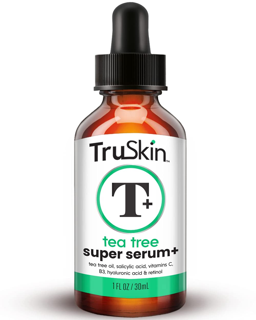 TruSkin Tea Tree Clear Skin Super Serum, Formulated for Acne Treatment with Tea Tree Oil, Vitamin C, Salicylic Acid & Retinol
