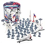 Astronaut and Space Toy Action Figures- Huge 60 Piece Playset, 13 Unique Sculpts- 2in - 8in Figures Include Rockets, Astronauts, Rovers and More
