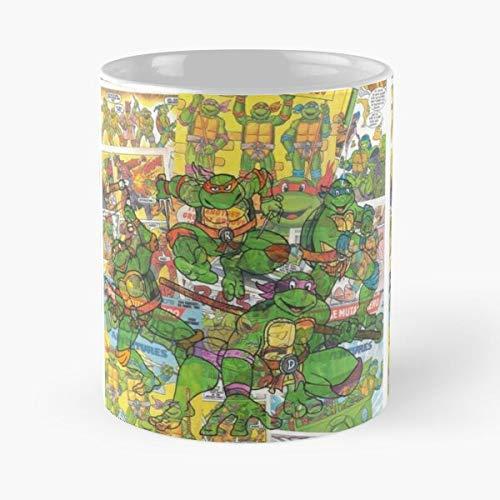 Generic Teenage Ninja Comic Turtle Mutant Vintage Hero Superhero Best 11 oz Kaffeebecher - Nespresso Tassen Kaffee Motive