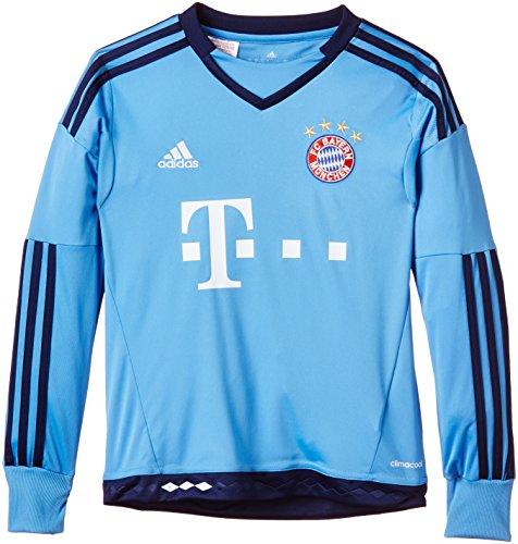 adidas Jungen Fußballtrikot FC Bayern München Replica Heim Torwart, Lucky Blue/Blue, 176