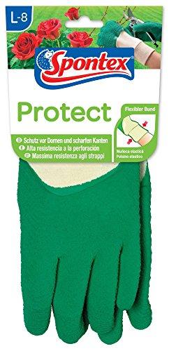 Spontex Protect Gartenhandschuhe, extra robust für Dornen und Hecken, mit Naturlatexbeschichtung, Größe L, 1 Paar