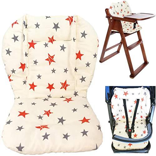 RXING Coussin de chaise haute bébé,bebe poussette coussin,bébé Coussin d'assise/coussin de chaise haute belle étoile Motif