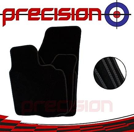 Precision  eat LEON 2013-2017 Fitted Business Class Black Carpet Car Mats with Black Twist SSSQ132