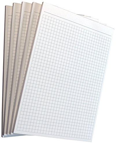 16x Notizblock kariert 5mm Kästchen - Notizen DIN A6, 50 Blatt, Qualitäts-Offset-Papier 80g/m² -Grau (22212)