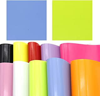 David accessories Rainbow Color Smooth PVC Faux Leather Fabric Sheet Synthetic Leather 10 Pcs 8