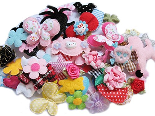yycraft Craft Mix Bulk 60pcs Blumen Schleifen Craft Hochzeit Ornament Applikationen
