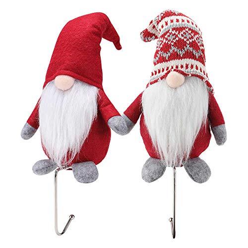 OUFINI Porta calze per camino - Porta calze per camino Porta calze natalizie Ganci da camino per calze Gnomo natalizio Ganci per calze Gnomo Decorazioni natalizie