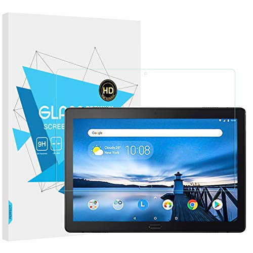 TiMOVO Screen Protector Compatible with Lenovo Tab P10, Anti-Scratch Bubble-Free Ultra Clear Tempered Glass Film For Lenovo Tab P10 TB-X705F TB-X705L 10.1' Tablet - Clear