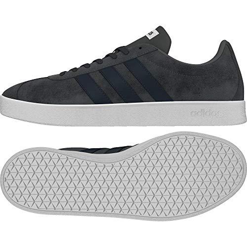 adidas VL Court 2.0, Zapatillas de Skateboard para Hombre, Gris (Grey Four F17/Collegiate Navy/FTWR White Grey Four F17/Collegiate Navy/FTWR White), 36 EU