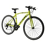 LUCK store クロスバイク マウンテンバイク 700*25C シマノ製14段変速 超軽量高炭素鋼フレーム 前後キャリパーブレーキ ワイヤ錠・ライトのプレゼント付き 自転車 4色選べる グリーン luck-02GN