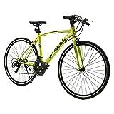 ●タイヤサイズ:700x25C 製品重量:(約)13.4kg ●フレーム材質:高炭素鋼  変速機:シマノ製14段変速。 ●適応身長:155~185cm ●備考:自転車は85%の組立済み状態でお手元にお届きます。ハンドル、ペダル、サドルはお客様ご自身のお組立となりますので、ご了承くださいませ。 ●「保証サービス」に対応しております。お買い上げ頂いた対象製品に初期不良、不具合、あるいは何かご不明の点がある場合、弊社のカスタマーサービスセンターまでにお問い合わせください。