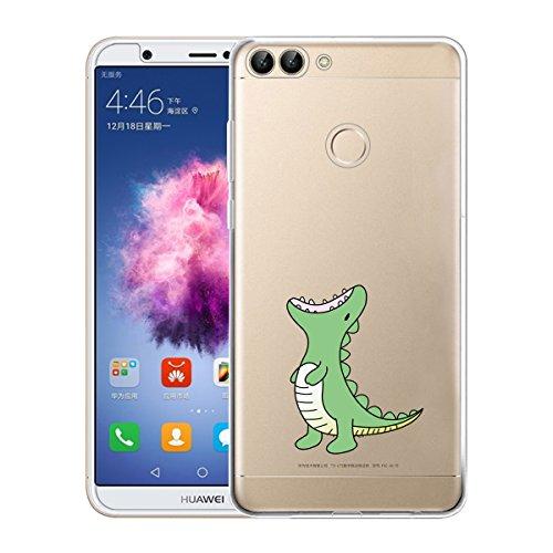 Cover Huawei P Smart , ivencase Custodia Huawei P Smart Silicone Trasparente TPU Flessibile Sottile Bumper Case per Huawei P...