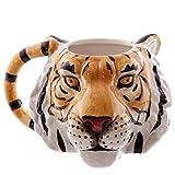 HRDZ Animale Animale Domestico Cane Leone Leopardo Testa di Tigre Tazza di Porcellana Tazza di Ceramica DipintaTesta di Cane Stereo Tazza Tigre 300ml