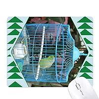 オウム オフィスグリーン松のゴムマウスパッド