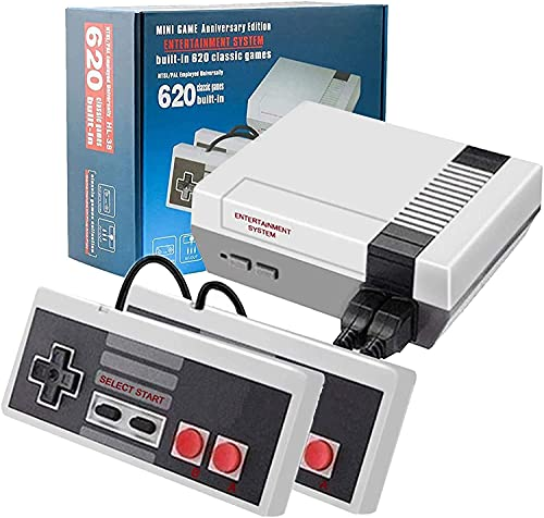 Classic Retro Game Console Mini Video Game Consoles with 620 Games - AV Output (Grey)