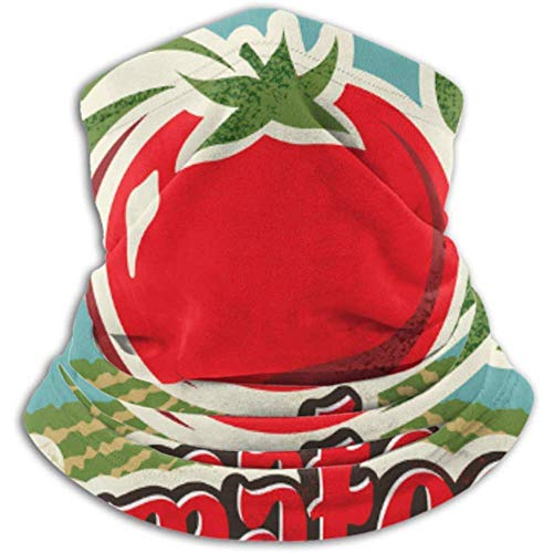 Linger In Microfaser Nackenwärmer-Halsmanschette Tube, Ohrenwärmer Stirnband Gesichtsmaske Retro Tomate Vintage Werbung Poster Metall