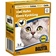 Bozita Chunks in Jelly Mega Pack Grain-free Complete Wet Cat Food for Stronger Immune System, Cleare...