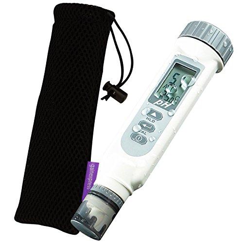 Test De Qualité De L'eau Mete Ph Tester / Temp ° F ° C Précision De La Mesure Kit 2 En 1 Avec 0 ~ 14.00PH Testeur D'eau De Piscine Tampon En Poudre Mètre Combo