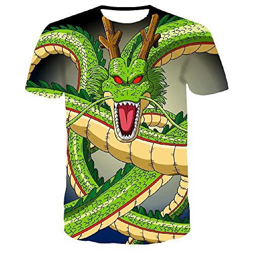 Nobrand Sommer-T-Shirt für Herren, 3D-Drachen-Druck, kurzärmelig, modisch, lässig, Rundhalsausschnitt Gr. XXXXX-Large, Tx-8452