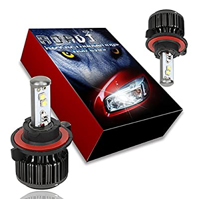 Roadi LED Headlight Conversion Kit - All in one - Diamond White CREE - Fog light bulbs - 2 Yr Warranty