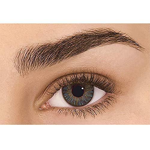 Farbige Kontaktlinsen, Farbige Linsen Mit Stärke Augenfarben Linsen Grün, Kontaktlinsen Deckende Anwendung Kosmetik Augenfarbe Linsen Jahreslinsen natürliche für Fasching Karneval (L)