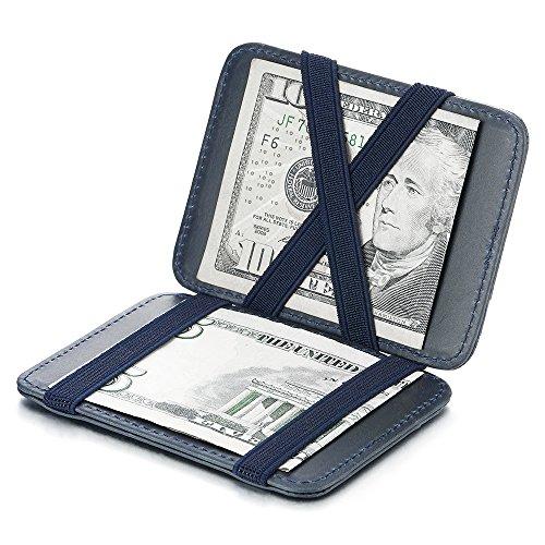 Dos Lados Dale la Vuelta Piel Delgada Bolsillo Cartera de Cuero Tarjetero Crédito, Bolsillo Dinero Billetera y Monederos