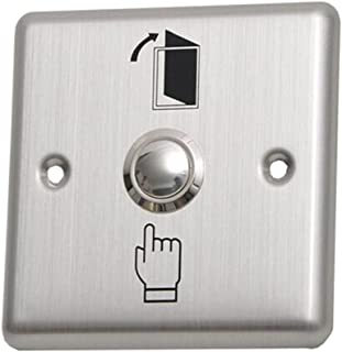 Homyl Anit-Rust Strong Metal Door Exit Push Button Switch Plate for Home Office Access Control System