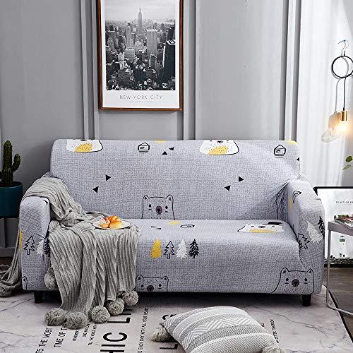 Little BearPrinting - Copridivano elasticizzato universale per divano coverAll inclusive antiscivolo telo divano 1 posto