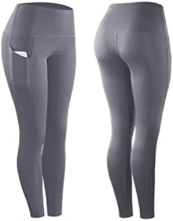 Justew Running Leggings for Women High Waist Workout Yoga Pants Power Flex Athletic Active Pants with Pockets Stretchy Tights