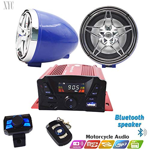 Buy 12V Motorcycle Waterproof FM USB 4 Channel 3 Inch UTV ATV Bluetooth Amplifier Sound System Audio...