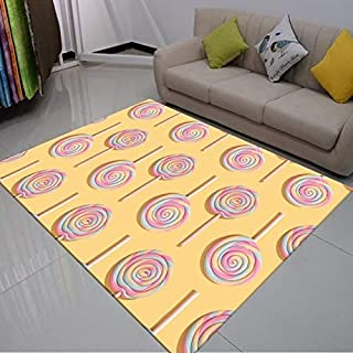 Rug - Candy Sweet Floor Mats for Living Room Bedroom 3D Printed Rectangle Rug for Yoga Mats Living Room Decorative Area Ru...