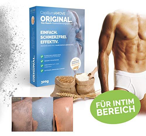 Capillum AMOVE Original 300g - Schmerzfreie Dusch Haarentfernung für empfindlichere Haut (Körper & Intimbereich)