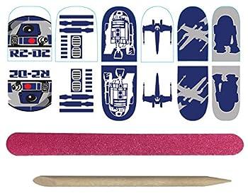 Rubie s Adult Star Wars R2-D2 Nail Stickers