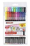 Edding - E1200-20-Bts Pack con 16+4 Rotuladores, 1200, Colores 1-12, 14, 17, 19, 20, 58, 83, 87, 88