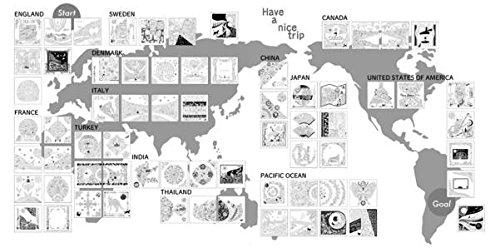 世界一周ぬり絵の旅aroundtheworldtripかわいい楽しいぬり絵ブック
