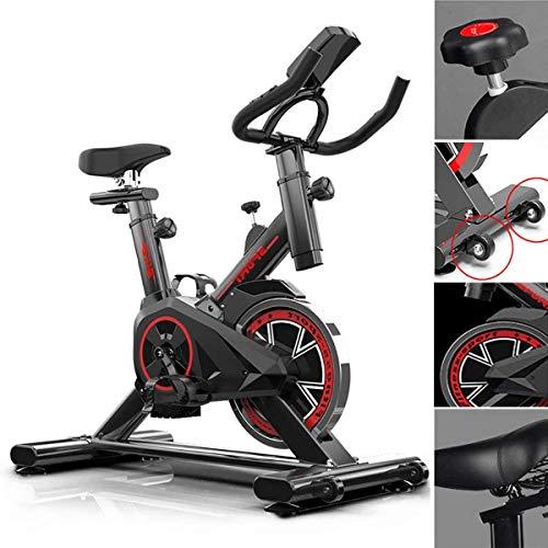 Indoor Hometrainer Spinning Cycle, Upright Hometrainer met riem-aangedreven vliegwiel, verstelbare Sturen en Seat, Thuis Sport Fietssport Fiets, gewicht te verliezen fitnessapparatuur
