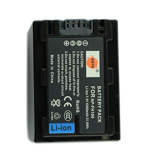 DSTE Repuesto Batería para Sony NP-FH100 DCR-DVD403 DCR-DVD403E DCR-DVD404E DCR-DVD405 DCR-DVD405E DCR-DVD406 DCR-DVD406E DCR-DVD407E DCR-DVD408 DCR-DVD410E DCR-DVD450 DCR-DVD450E